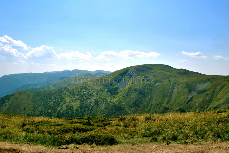 Spring mountains, Goverla in Ukraine. royalty free stock photo