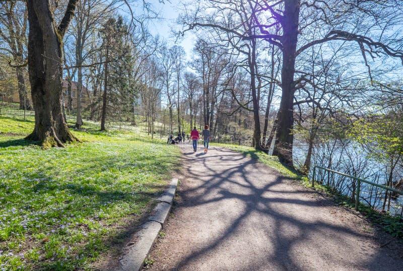 Spring in Norrköping, Sweden stock photos