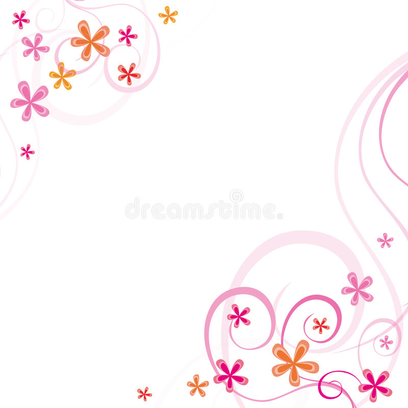 Spring ornaments. Abstract spring ornaments on white background. vector illustration