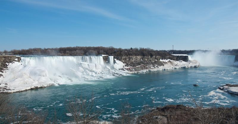 Spring panoramic view of the Niagara Falls royalty free stock photo