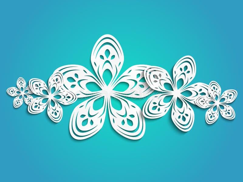 Spring flowers on blue stock illustration