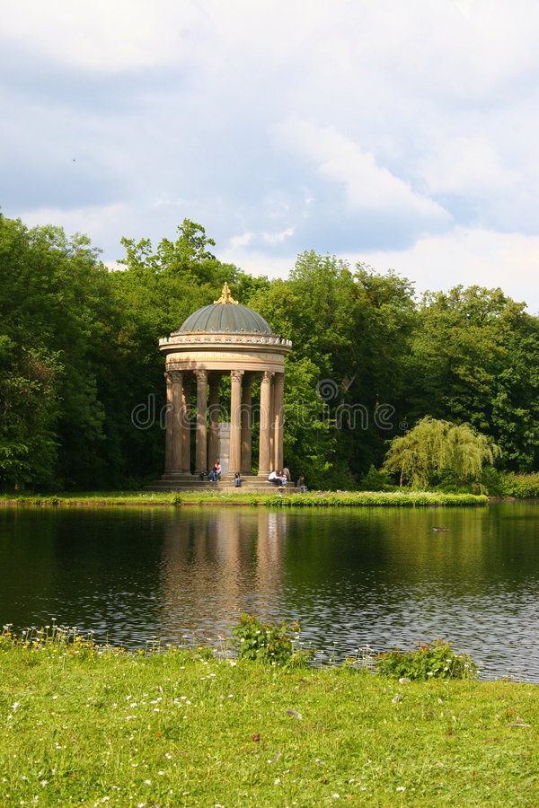Spring in the park, munich royalty free stock photos