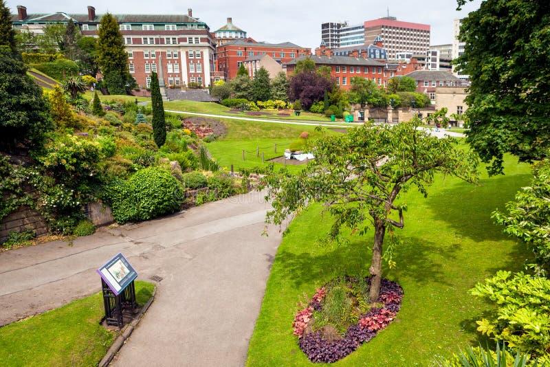 Spring parkerar i Nottingham arkivbilder