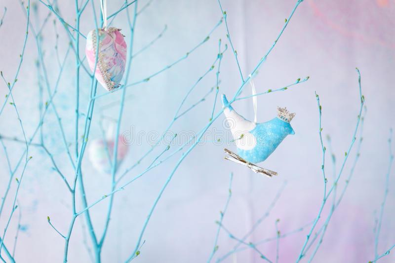 Spring pastel decor stock photos