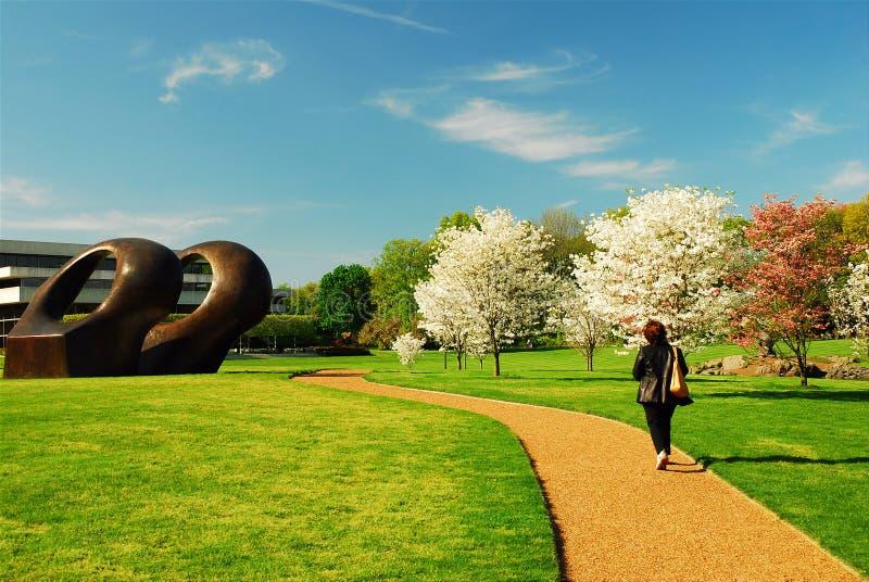 Spring At Pepsico Sculpture Garden Editorial Photo - Image of ...