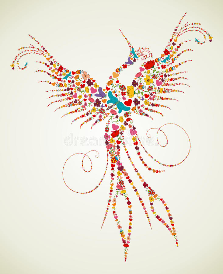 Free Spring Pheonix Bird Texture Royalty Free Stock Photo - 30027175