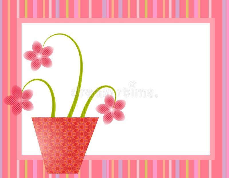 Spring Pink Easter Flower Pot royalty free illustration