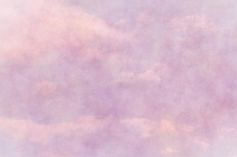 Spring pink paper texture with cloudy blue sky royalty free stock images