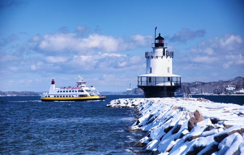 Spring point lighthouse portland maine stock photos