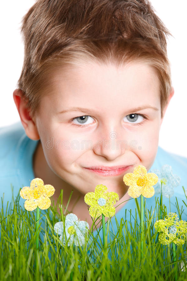 Download Spring Portrait Of Cute Little Boy Stock Image - Image: 23184343