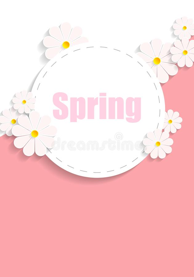 Spring poster with daisies royalty free illustration