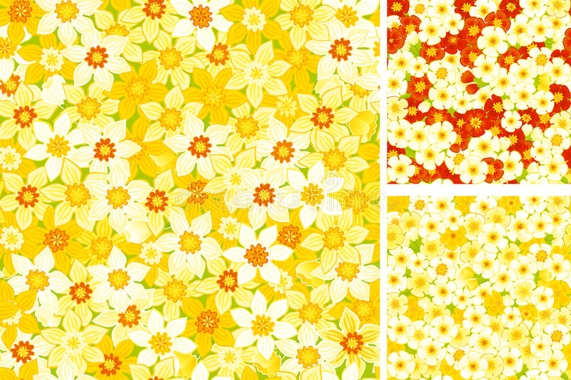Download Endless Backdrop Spring Primroses Stock Vector - Illustration of bright, repeat: 18861688