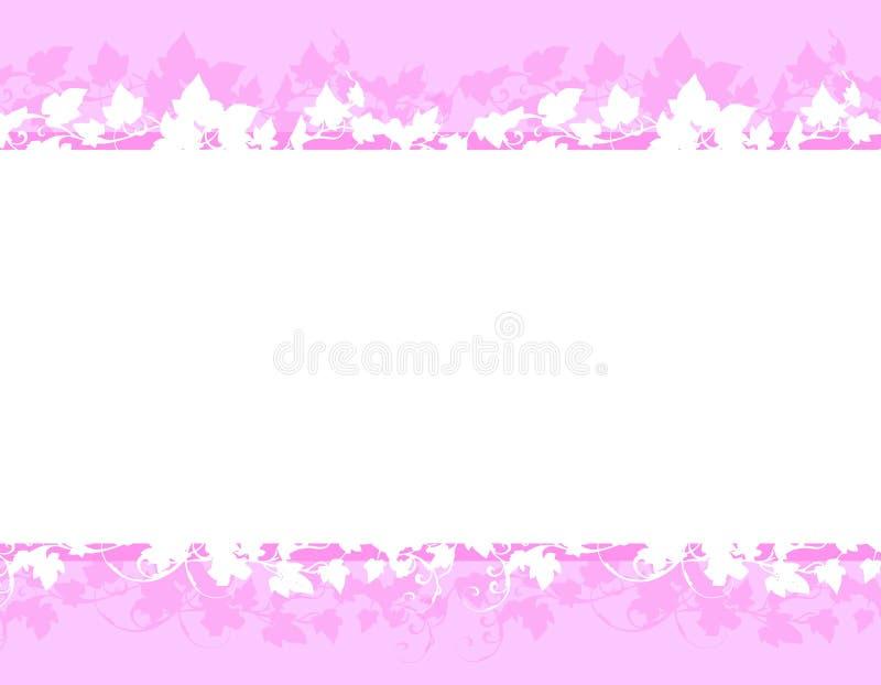 Spring Purple White Floral Vine Borders stock illustration
