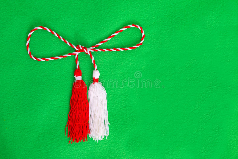 Spring red and white string stock photography