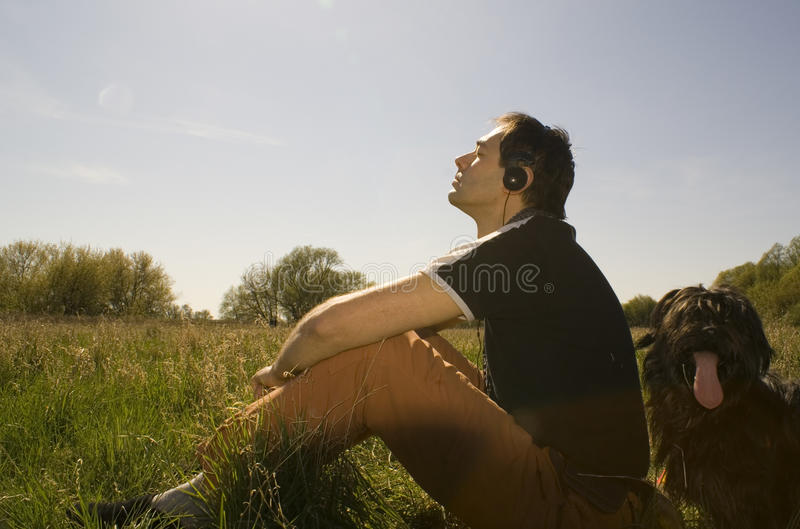 Spring relax stock photo