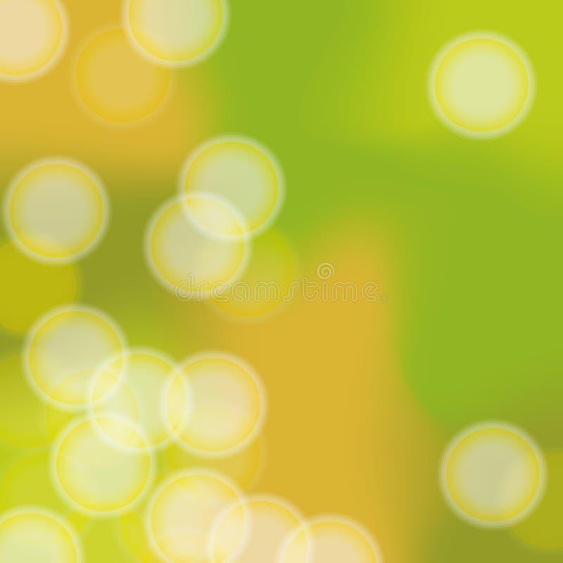 Spring ripple. Circular halo and hazy green background stock image