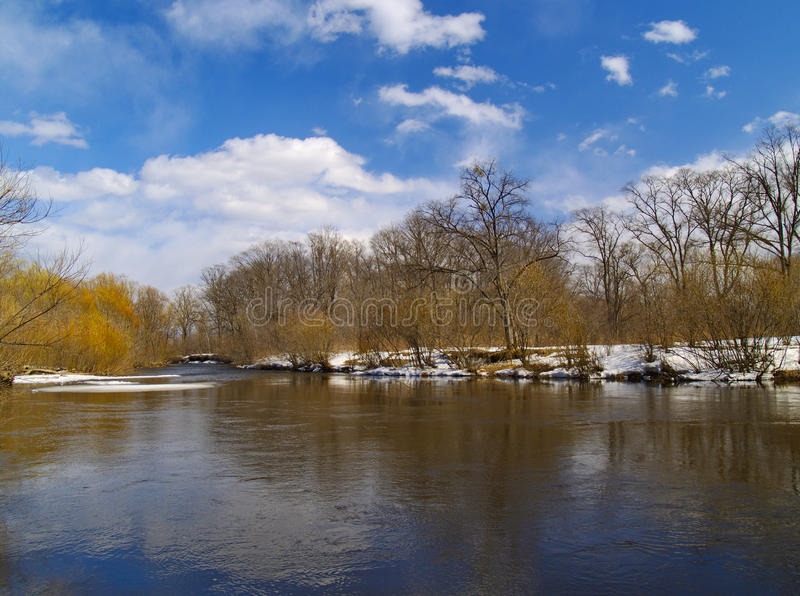 Spring on the river stock photography