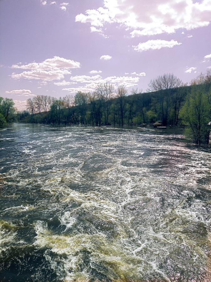 Spring river stock photo