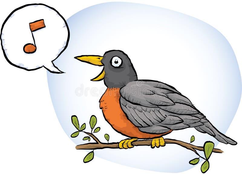 Download Spring Robin Song Stock Illustration. Illustration Of Twig    41884323