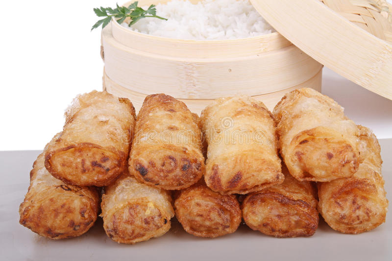 Download Spring roll stock image. Image of spring, chinese, fried - 18133577