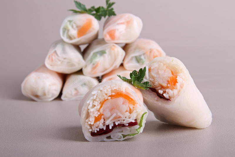 Download Spring roll stock image. Image of vermicelli, roll, vietnamese - 18171501