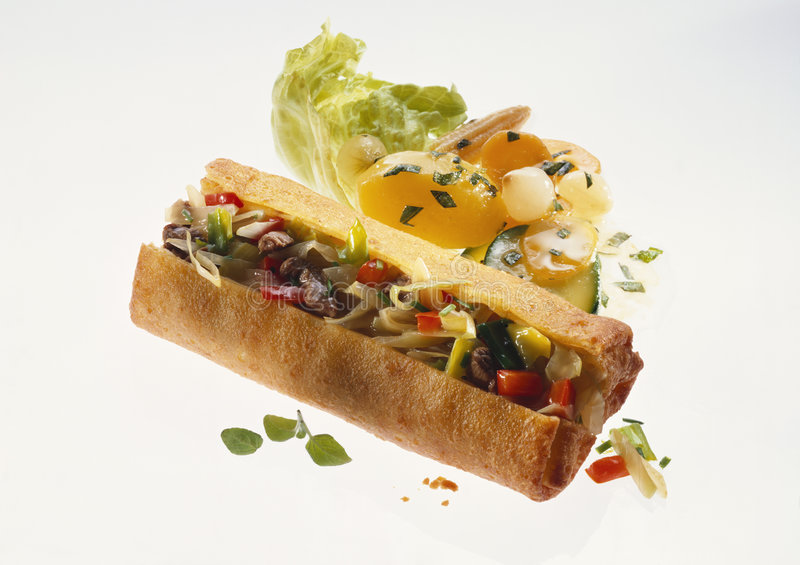 Download Spring roll stock image. Image of recipe, asiatic, vegetables - 7673699