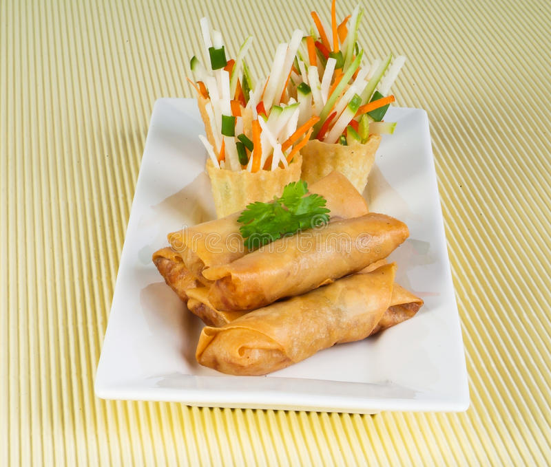 Download Spring Roll On Background Stock Images - Image: 26014954