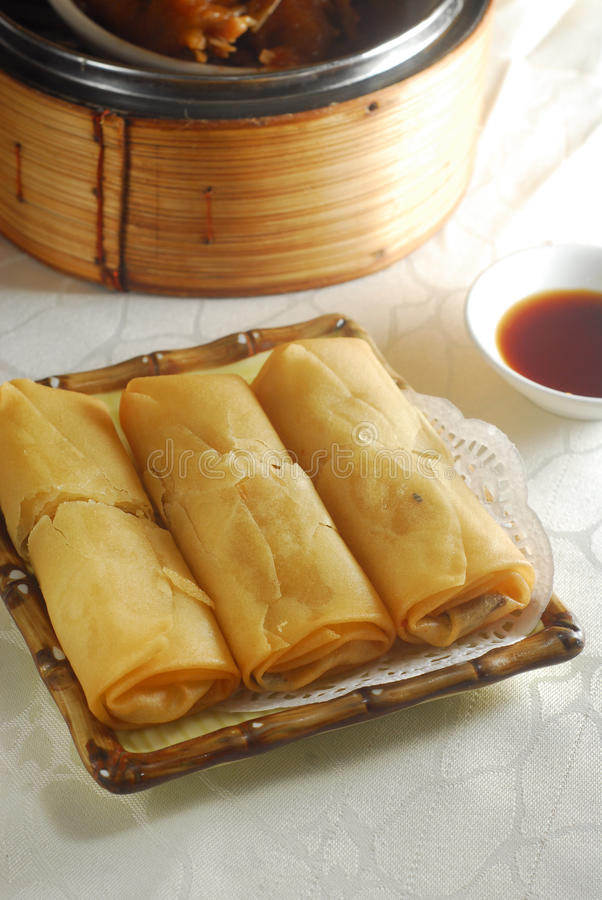Spring roll dim sum royalty free stock images