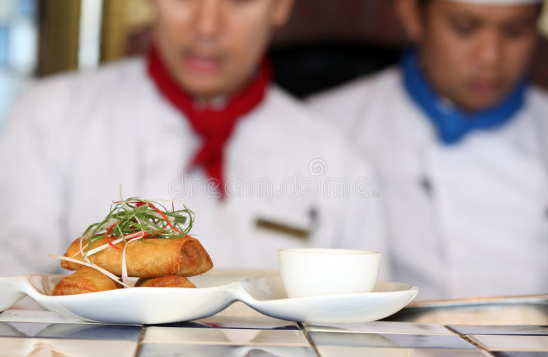 Download Spring roll at restaurant stock image. Image of catering - 14773203