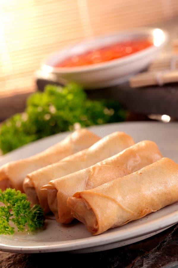 Download Spring roll and samosas stock image. Image of crispy - 25474781