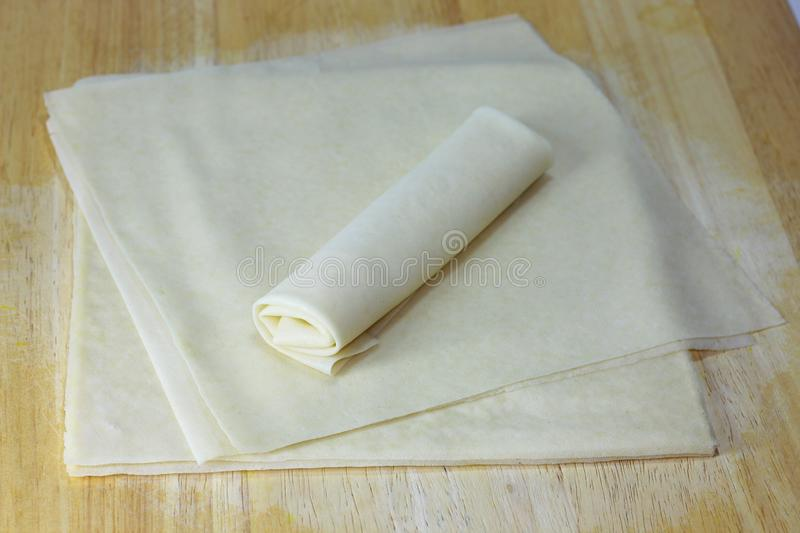 Spring roll wrappers or Popiah royalty free stock images