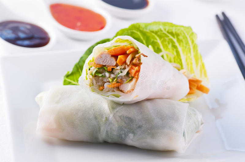 Download Spring rolls stock photo. Image of appetizer, bean, filling - 23276982