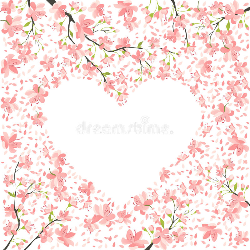 Spring romance stock illustration