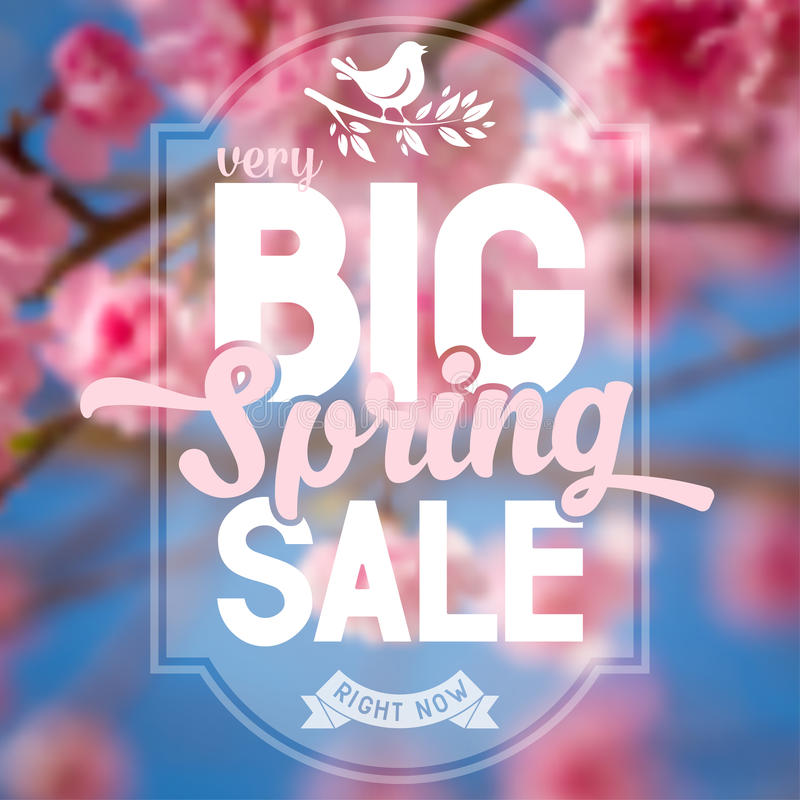 Spring sale vector illustration