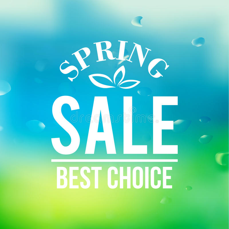 Spring sale background with text vector illustration