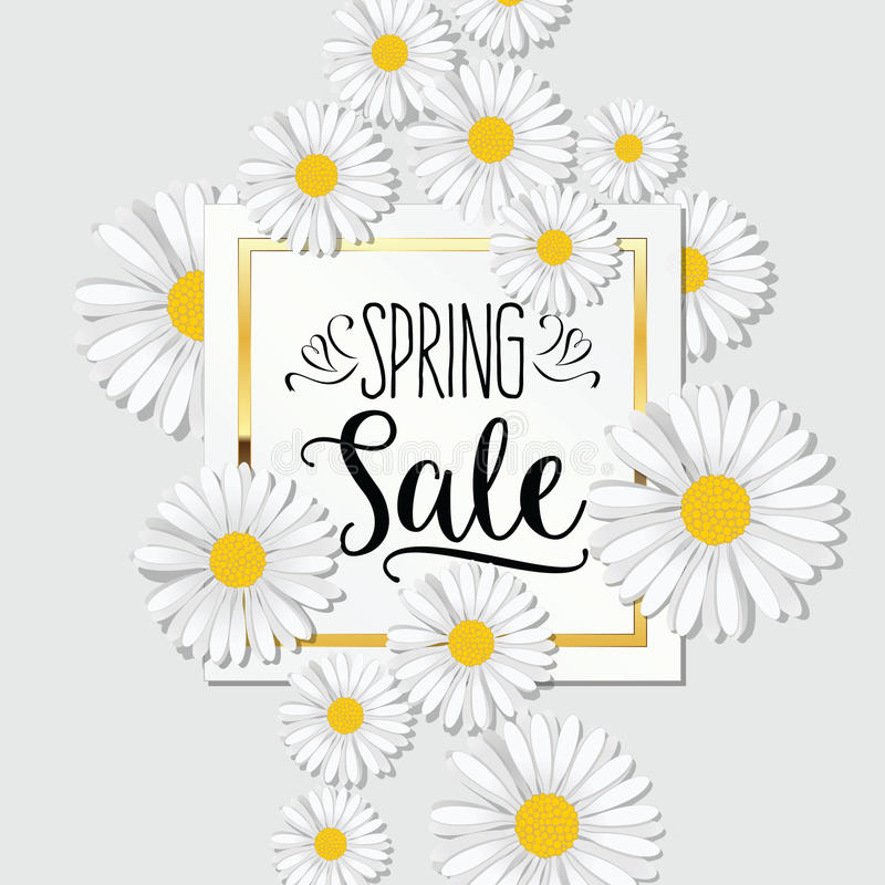Spring Sale banner. Background for Spring Seasonal Promotion. royalty free illustration