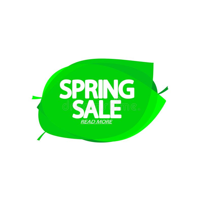 Spring Sale, bubble banner design template, discount tag, app icon, vector illustration royalty free illustration