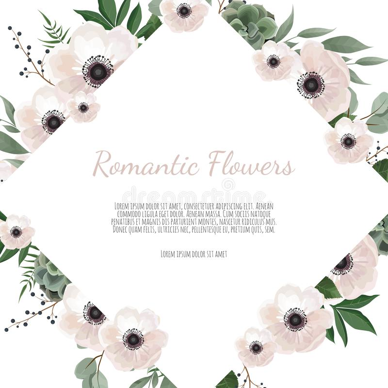 Spring sale floral banner with flowers on background for design of banner, flyer, poster, web site. royalty free illustration