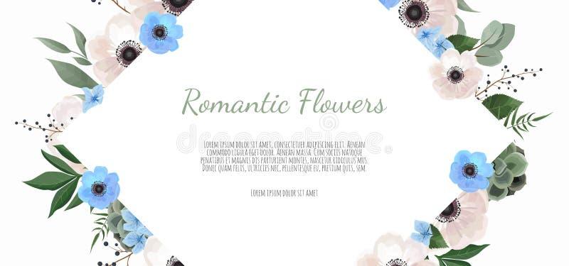 Spring sale floral banner with flowers on background for design of banner, flyer, poster, web site. vector illustration
