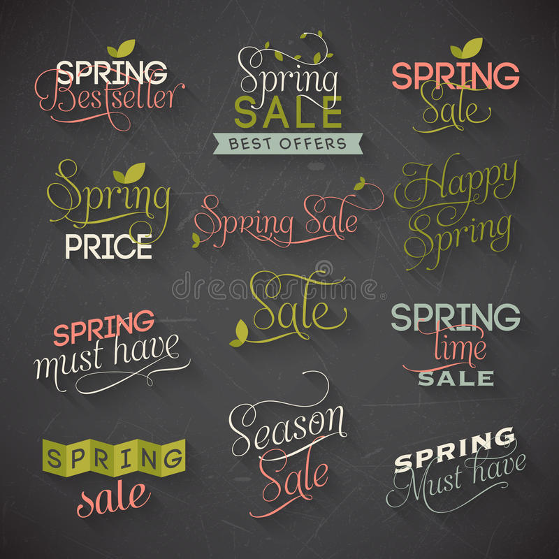 Free Spring Sale Labels Royalty Free Stock Photography - 40988137