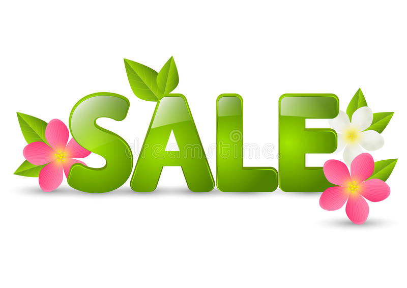 Spring sale message stock illustration