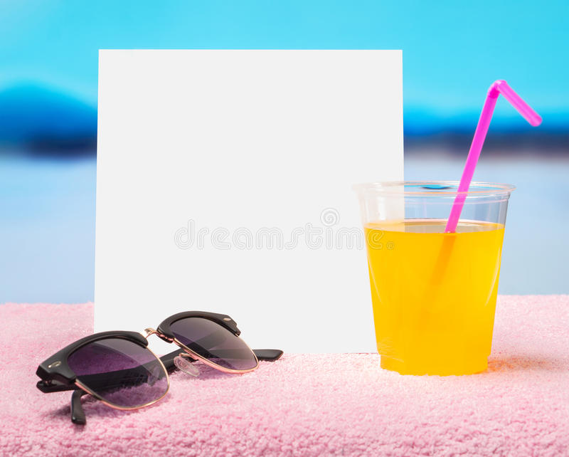 Spring sale offer template for promotion in web, social media of website. White blank square card for content and copy space. Hot summer feeling with royalty free stock photography