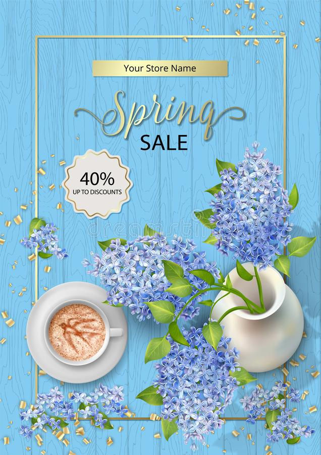 Spring Sale Poster royalty free illustration