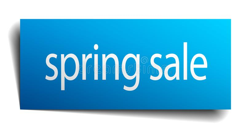 Spring sale sign. Spring sale square paper sign isolated on white background. spring sale button. spring sale stock illustration
