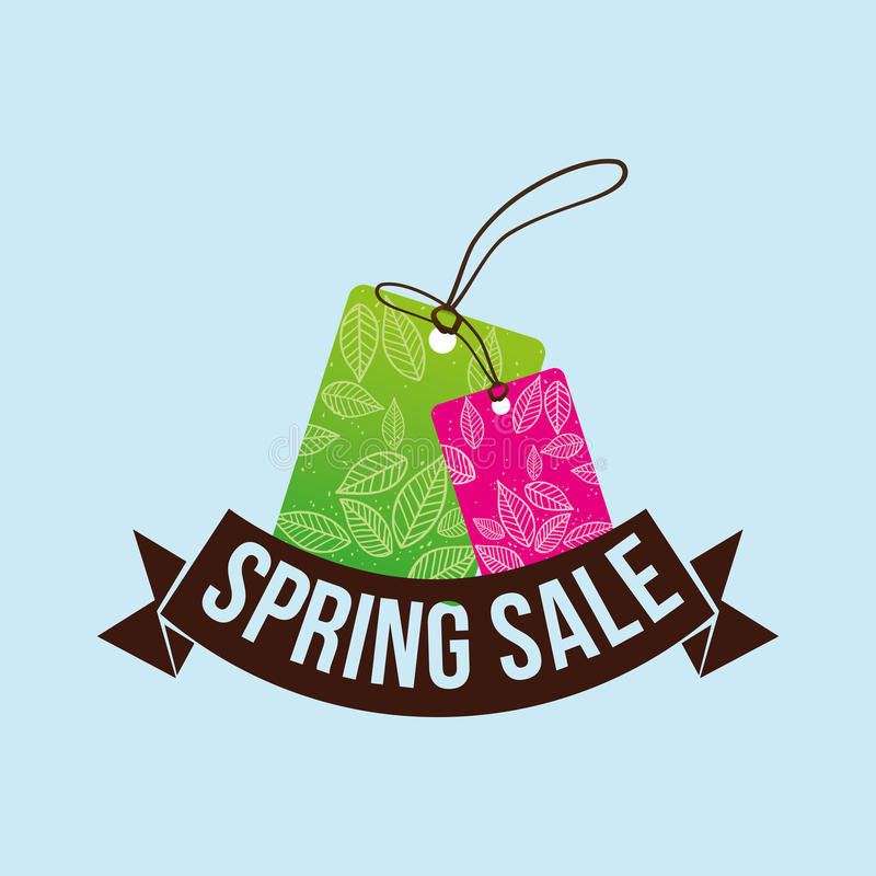 Spring sale tag price shopping concept. Illustration eps 10 royalty free illustration