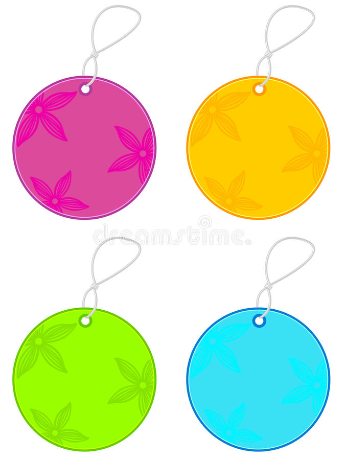 Spring Sale Tags vector illustration