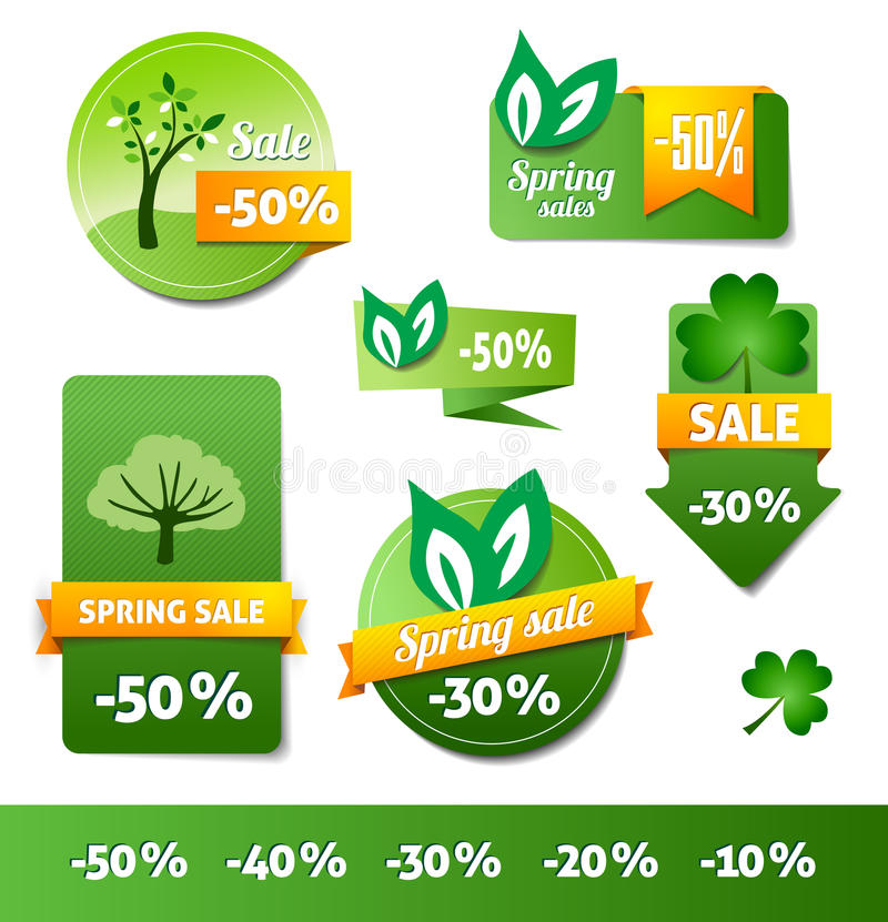 Download Spring Sales Labels stock vector. Image of design, sale - 28617036