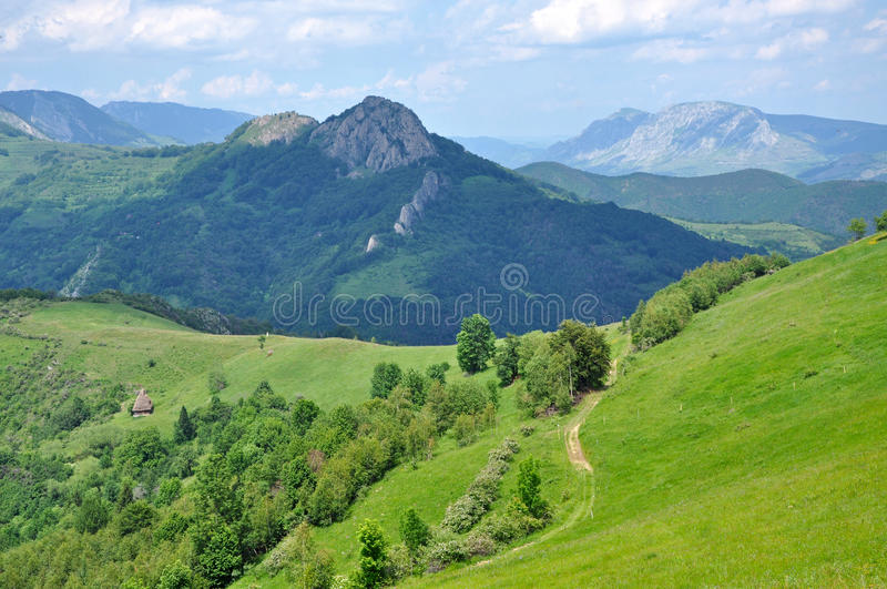 Spring Scene In The Mountains Stock Photography