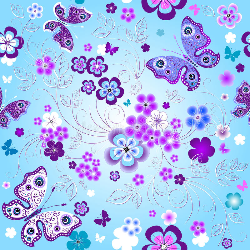 Spring seamless floral pattern vector illustration