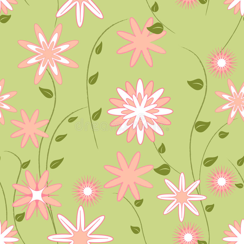 Spring seamless pattern stock photos